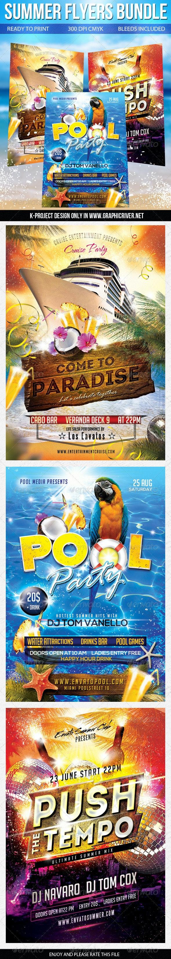 Summer Flyers Bundle - Clubs & Parties Events