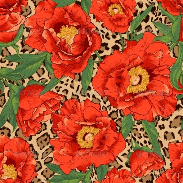 Flower and Leopard Pattern