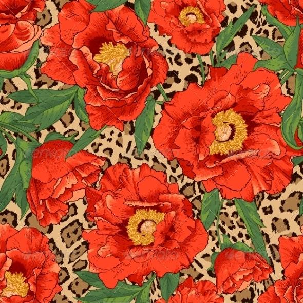 Flower and Leopard Pattern - Patterns Decorative