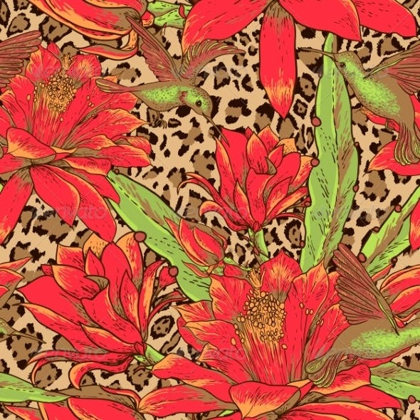 Floral and Leopard Pattern