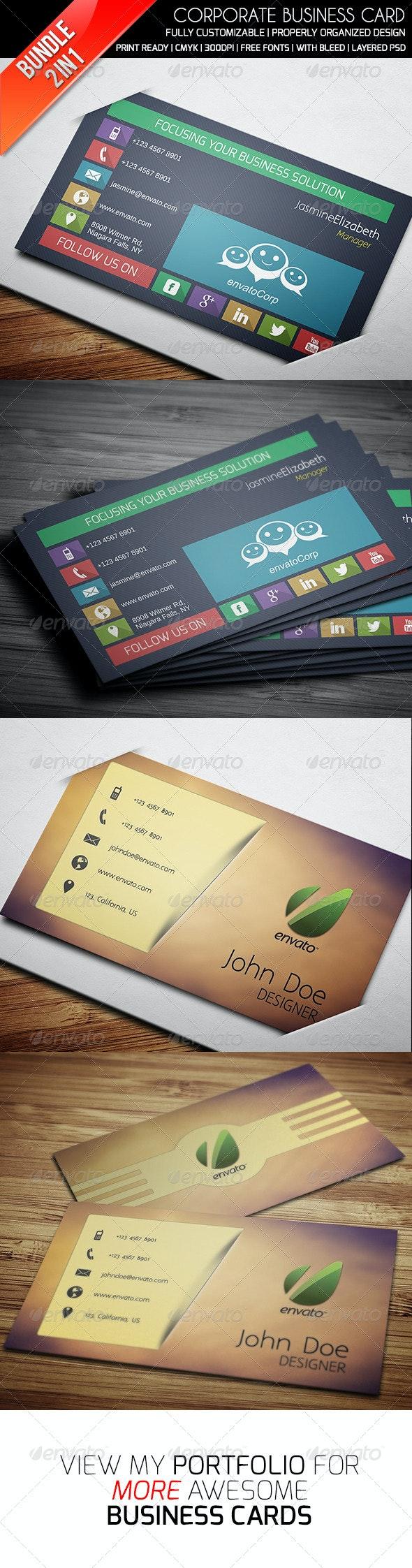 Ethanfx Business Card Bundle Vol 5 - Business Cards Print Templates