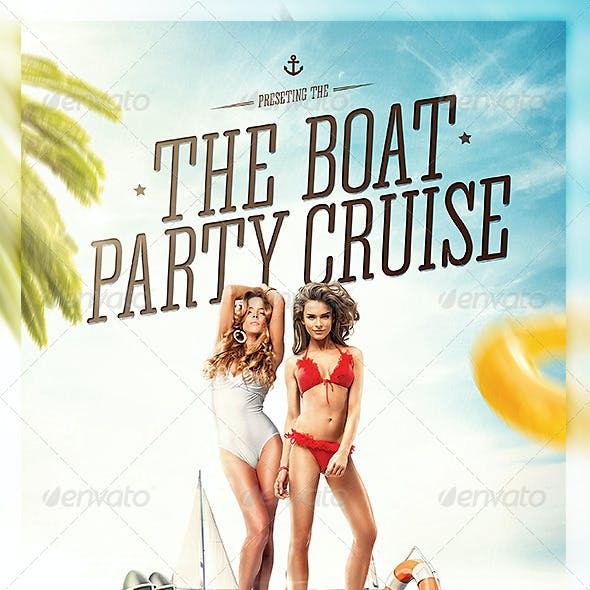 Yacht & Boat Party Flyer Template