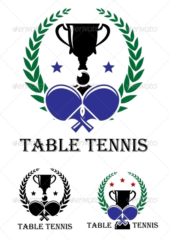 Table Tennis Emblem - Sports/Activity Conceptual
