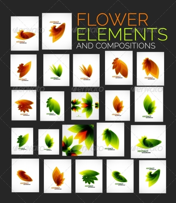 Flower Elements - Abstract Conceptual