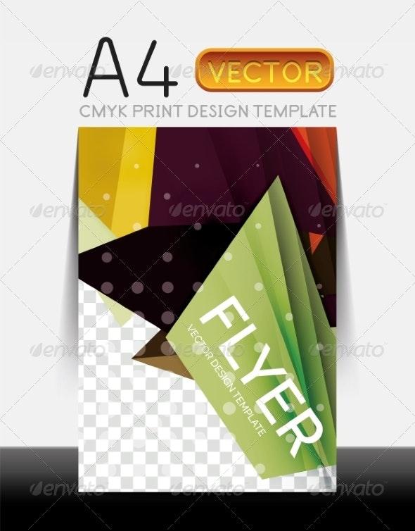 Vector Modern Flyer Design - Backgrounds Business