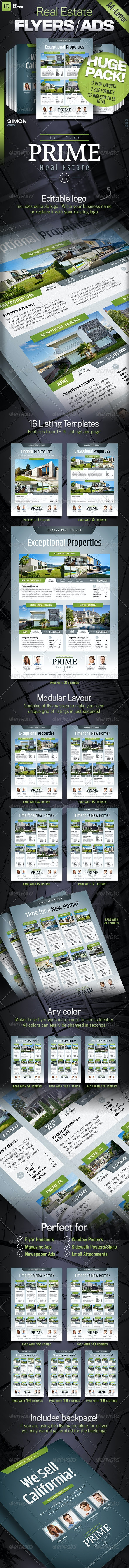 Real Estate Flyers/Ads - 'Prime' - Commerce Flyers
