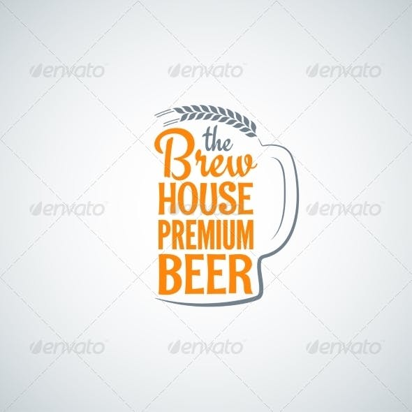Beer Bottle Glass Background