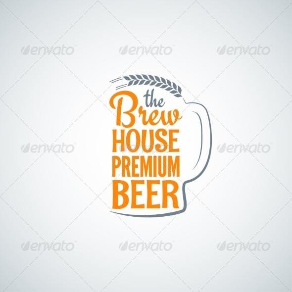 Beer Bottle Glass Background