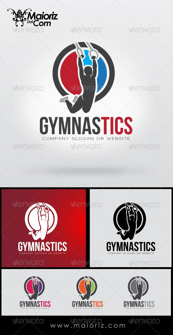 Gymnastic Logo Template - Humans Logo Templates