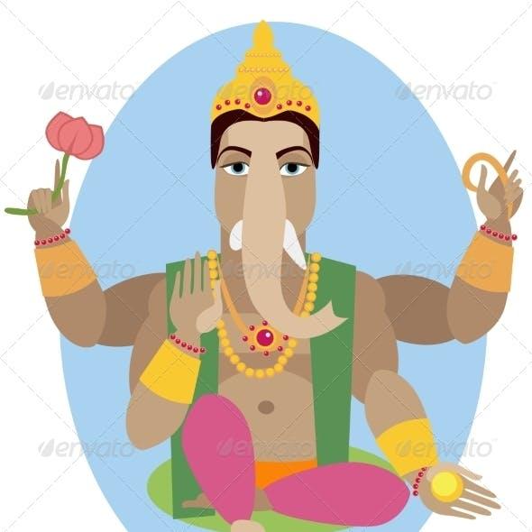 Illustration of Statue of Lord Ganesha