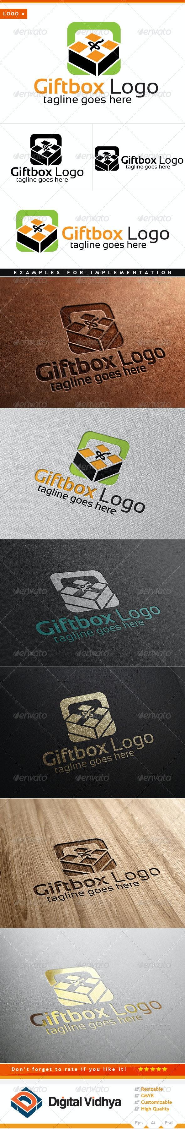 Gift & Box Logo - Symbols Logo Templates