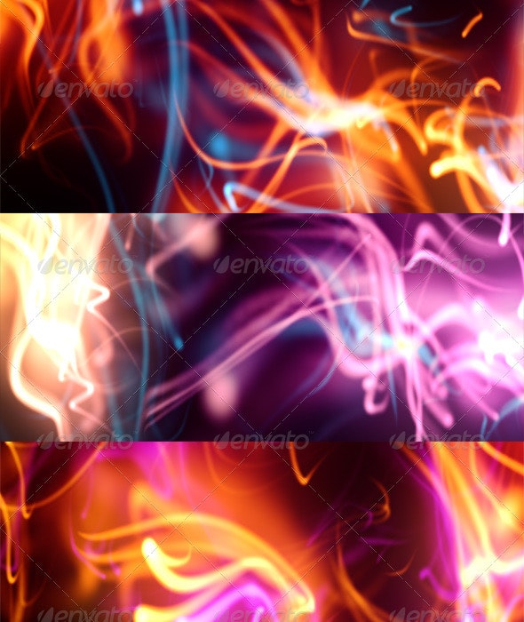 Colorful Streaks - Backgrounds Graphics