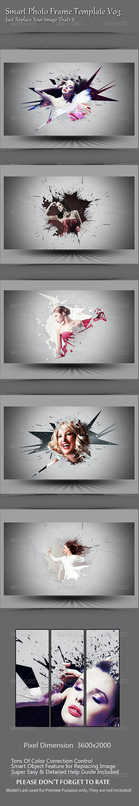 Smart Photo Frame Template V03 - Photo Templates Graphics