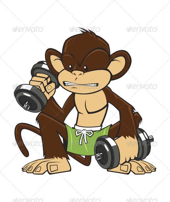 Monkey Fitness - Animals Characters
