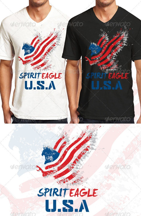 Spirit Eagle T Shirt Graphic - Grunge Designs