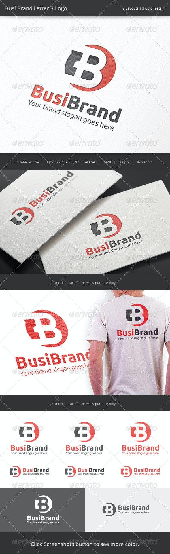 Business Brand Letter B Logo - Letters Logo Templates