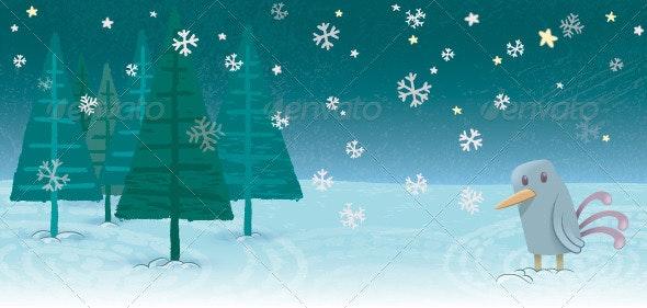 Snowy Landscape - Christmas Seasons/Holidays