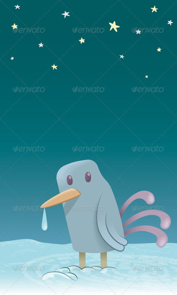 Little Bird in the Cold - Animals Characters
