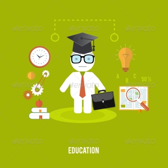 Student with Case - People Characters