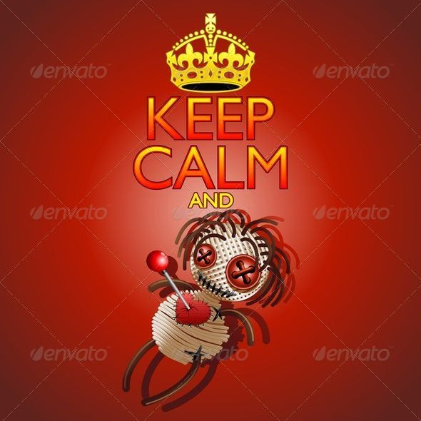 Keep Calm and Voodoo Doll - Religion Conceptual