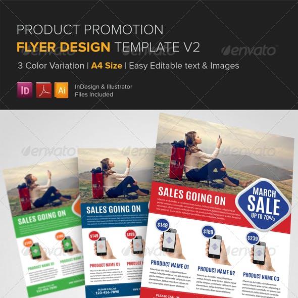 Product Promotion Flyer Design Template v2