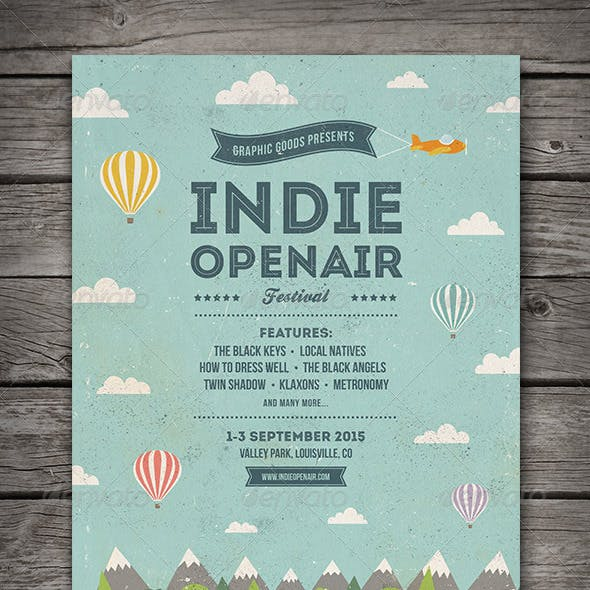 Indie Open-air Festival Flyer/Poster