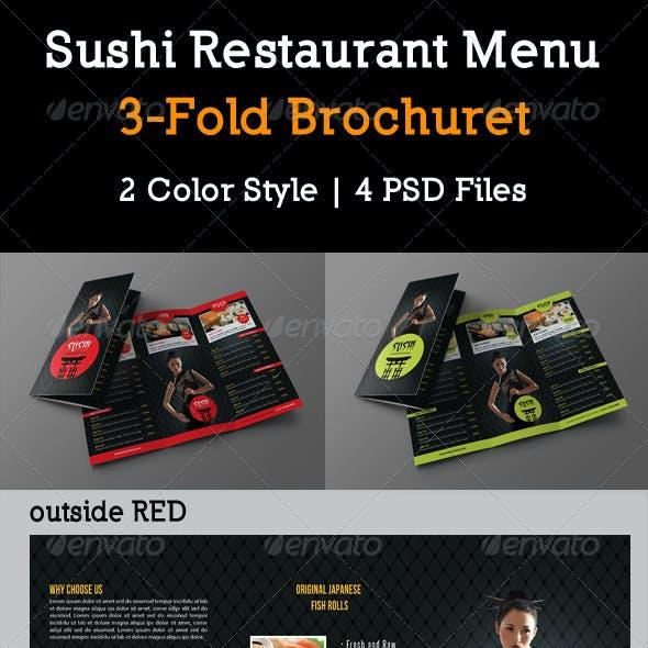 Sushi Restaurant Menu 3-Fold Brochure 03