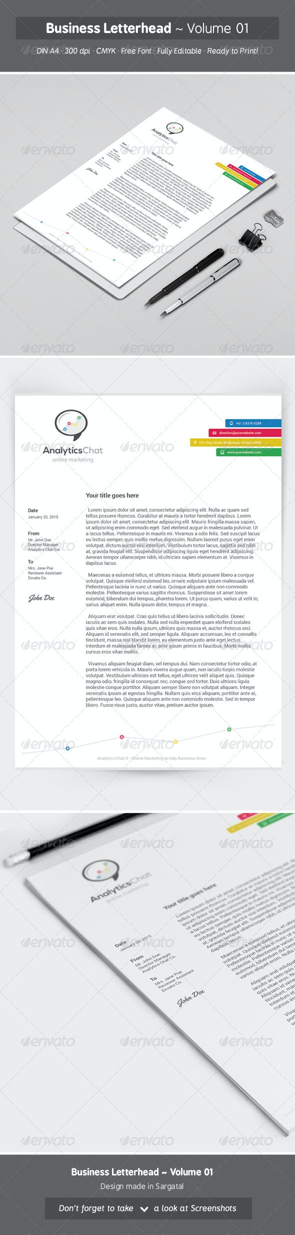 Business Letterhead - Volume 01 - Stationery Print Templates