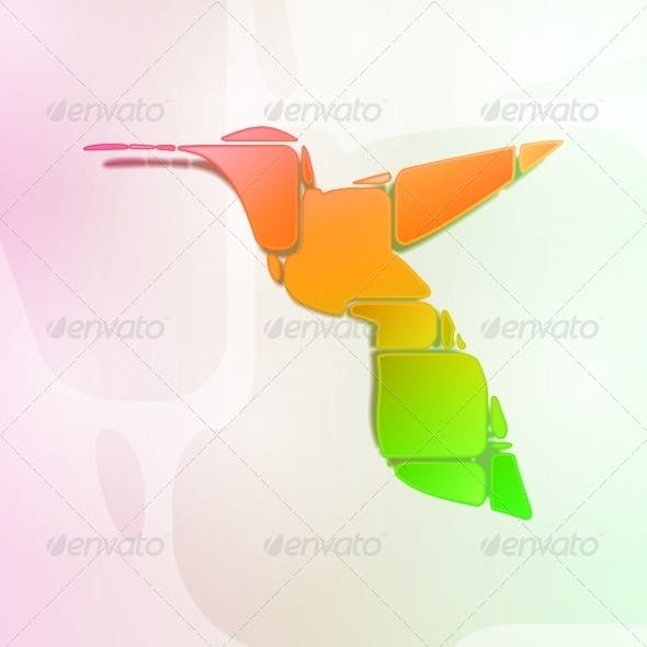 Abstract Colorful Hummingbird