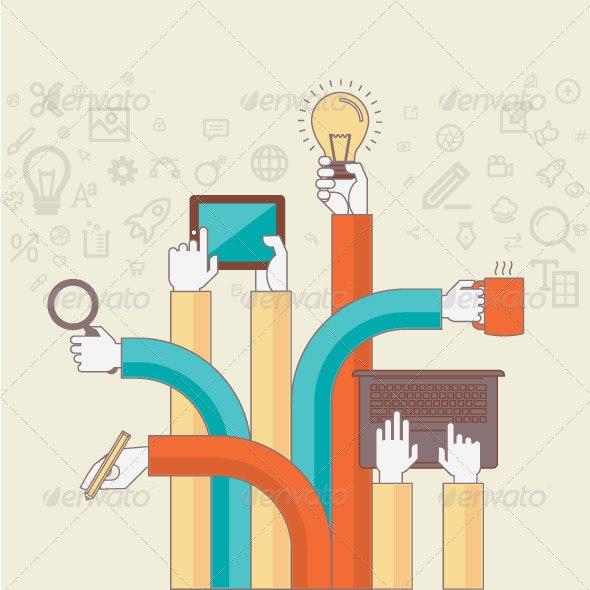 Creative Design Process - Conceptual Vectors