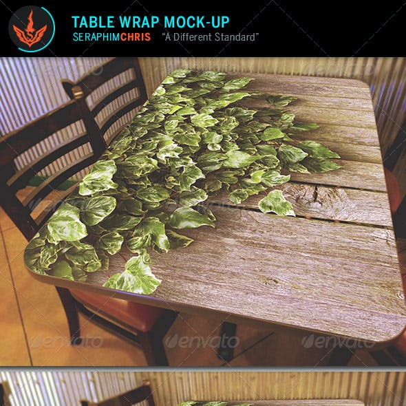 Table Wrap Mock Up Template