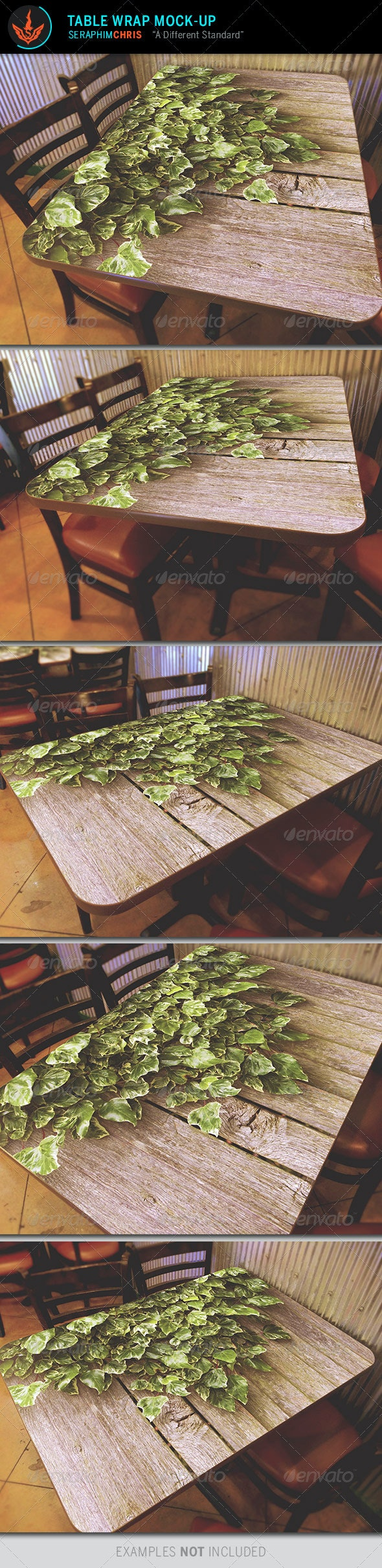 Table Wrap Mock Up Template - Miscellaneous Product Mock-Ups