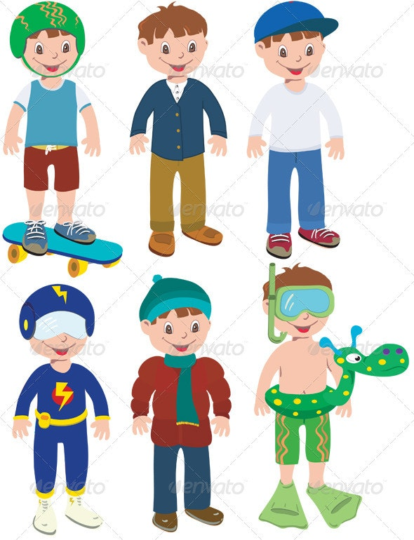 Boy Outfits - Characters Vectors