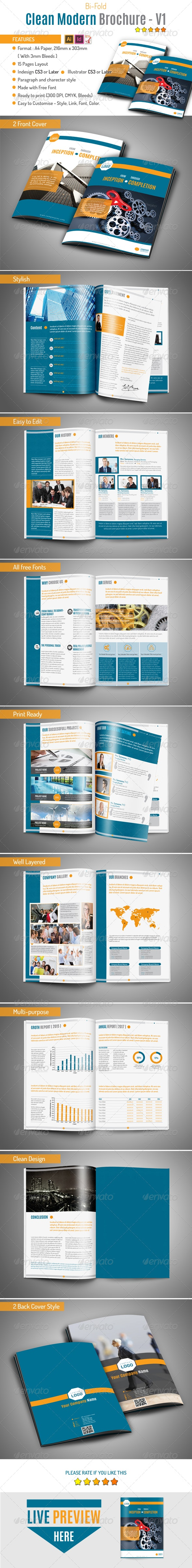 Clean Modern Brochure v1 - Corporate Brochures
