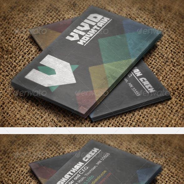 Vivid Mountains Business Card
