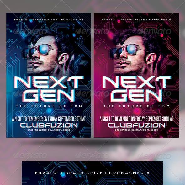 Next Generation DJ Party Flyer