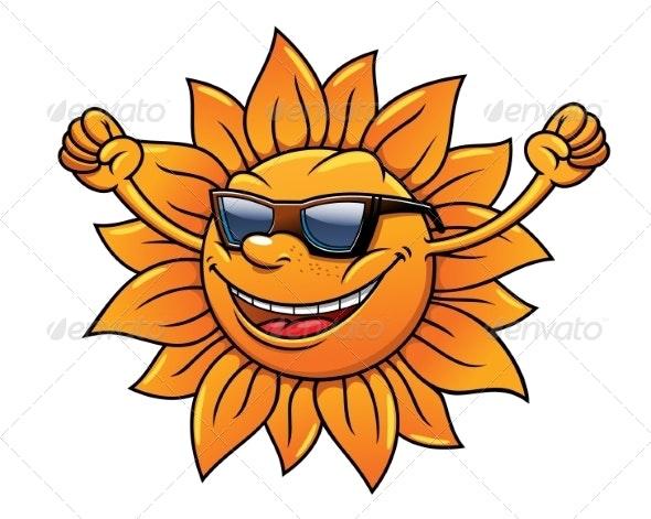 Tropical sun in sunglasses - Travel Conceptual