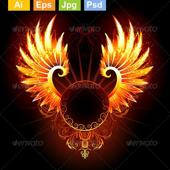 Banner with Wings Phoenix