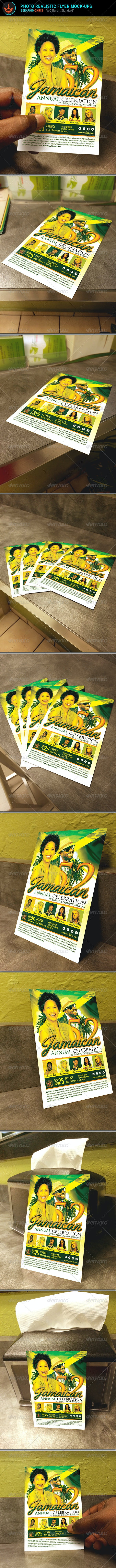 Photo Realistic Flyer Mock Up Templates - Flyers Print