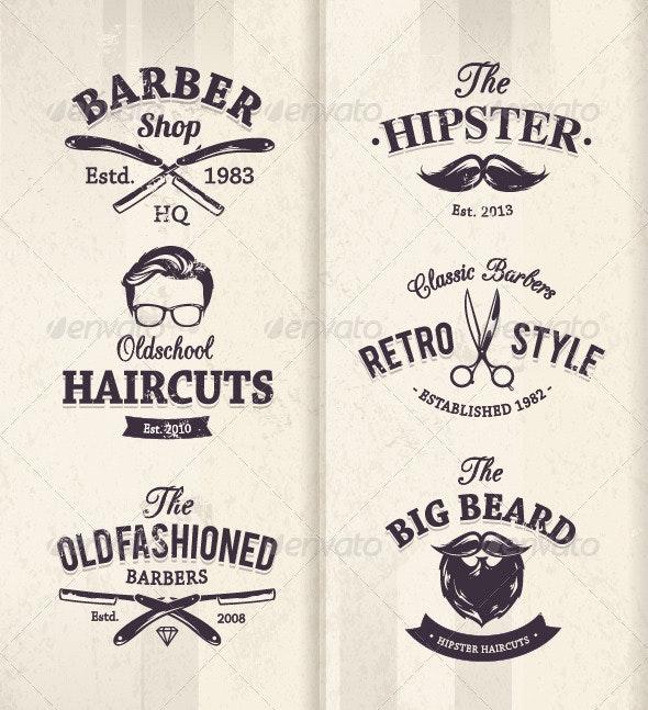 Barber Shop Emblems - Vectors