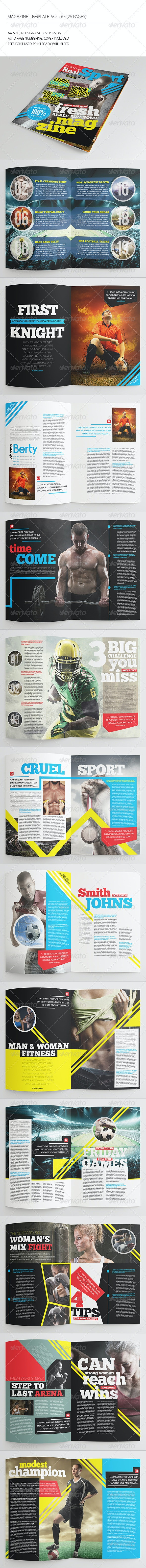 25 Pages Sport Magazine Vol67 - Magazines Print Templates