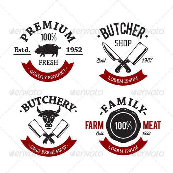 Butcher Shop Emblems