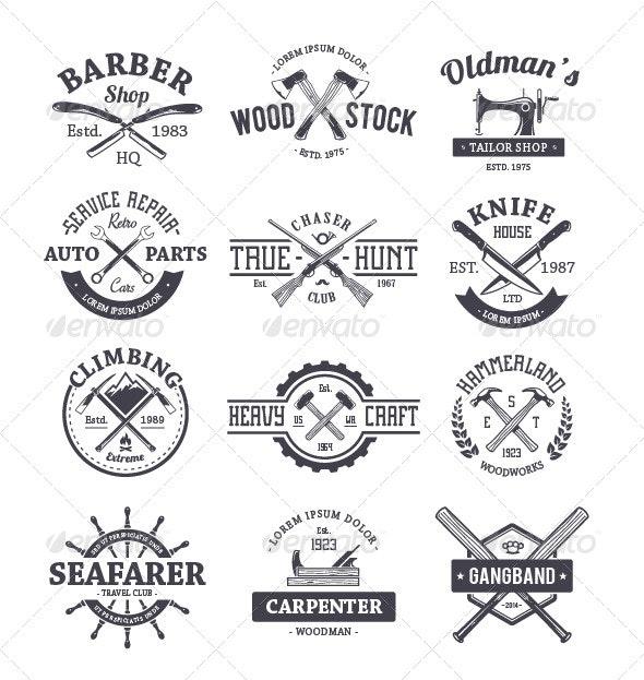 Crafts Emblems Set - Vectors