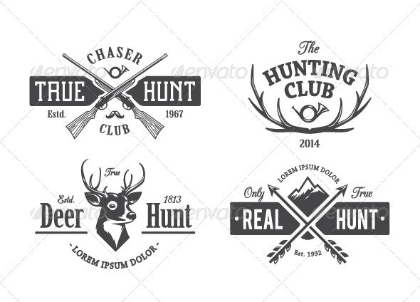 Vintage Hunting Emblems - Vectors