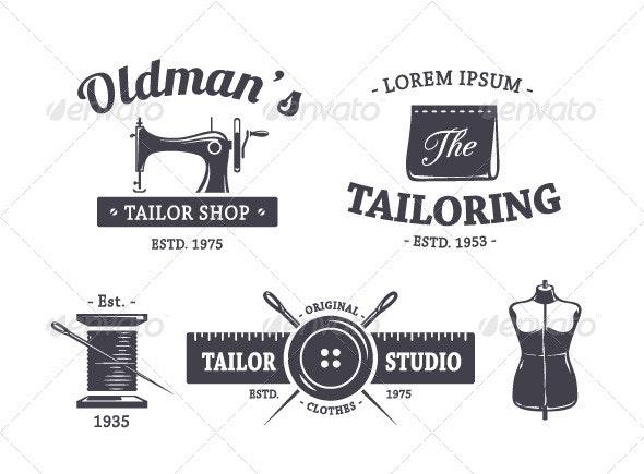 Vintage Tailor Emblems - Vectors