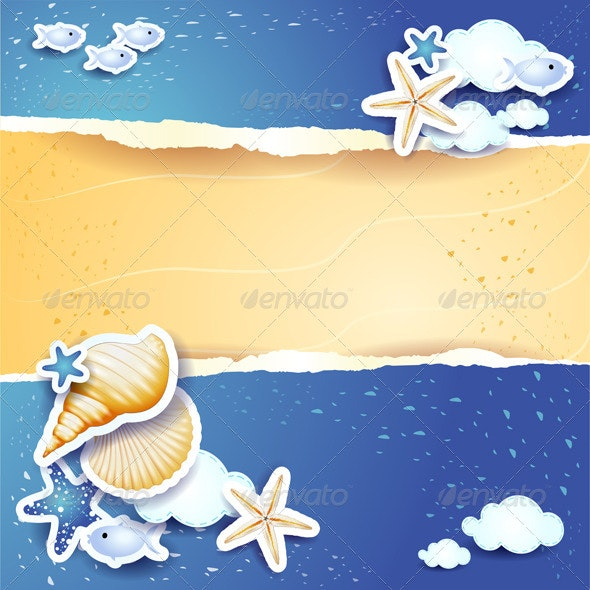 Holidays Background with Sea and Sand - Miscellaneous Seasons/Holidays