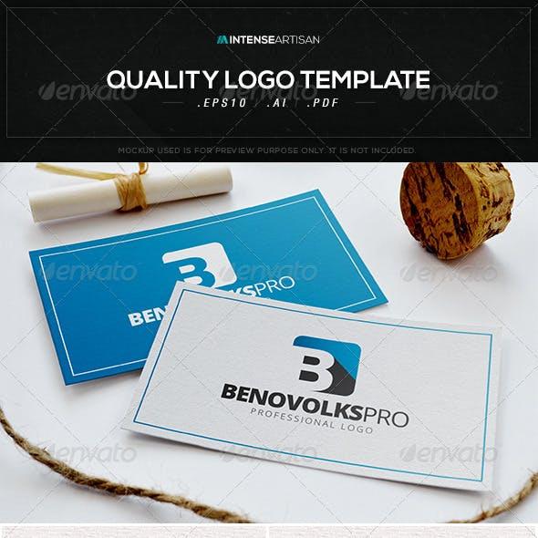 Benovolks Pro Logo Template
