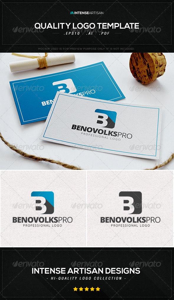 Benovolks Pro Logo Template - Letters Logo Templates