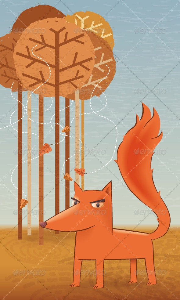 The Fox in the Forest - Animals Characters