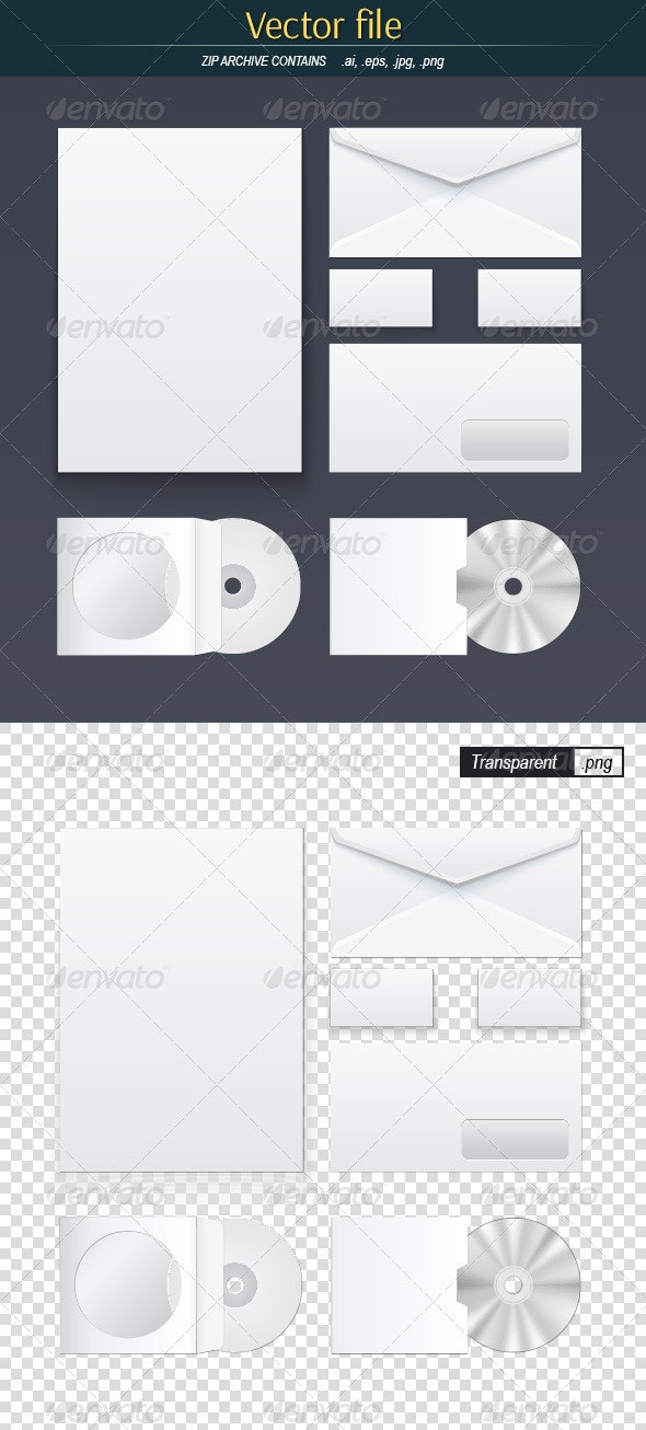 Office Supply Set - Objects Vectors